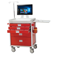 Medical Drug Delivery System with Barcode Reader Mobile PC